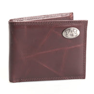 Auburn Pebble Grain Passcase Wallet