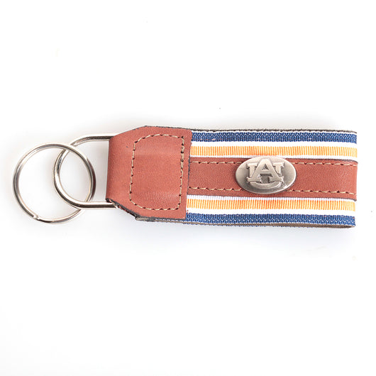Grosgrain/Leather Concho Key Fob
