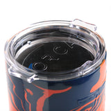 Orange and Navy Hydrodipped 20-oz Insulated Chaser