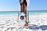 Clear Auburn Logo Stadium Bag