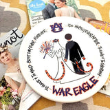 A War Eagle Wedding Plate - An Auburn Art Exclusive