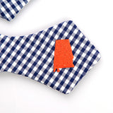 Alabama Bow Tie in Navy and Orange
