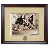 Auburn Bygone Days Woman with Pennant Framed Photo