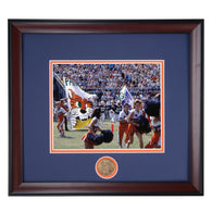Auburn Tigers Enter Football Field 1983 Pre-Game Banner Framed Photo