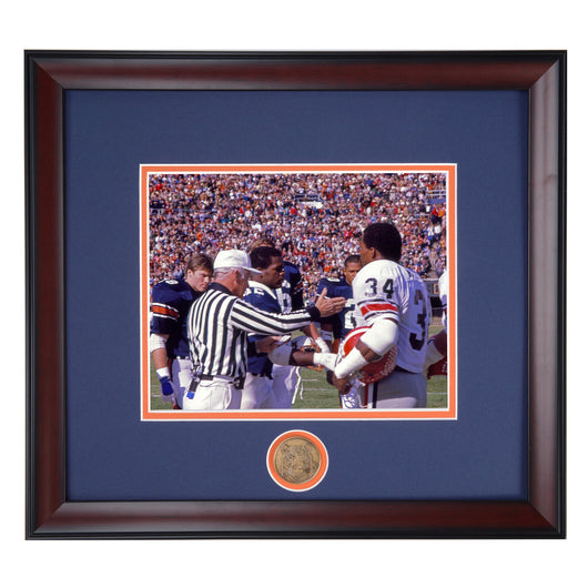 Auburn Tigers vs Herschel Walker and UGA Framed Football Photo