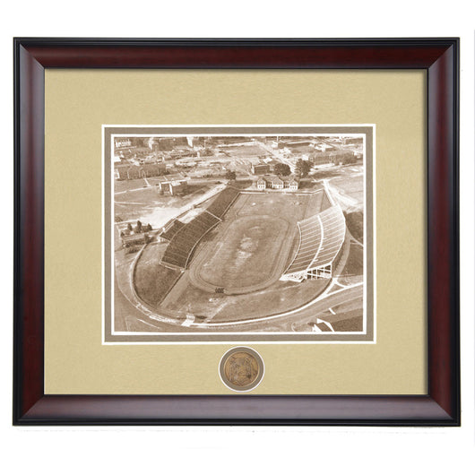 Auburn Football Cliff Hare Stadium 1950's Aerial View Vintage Photo
