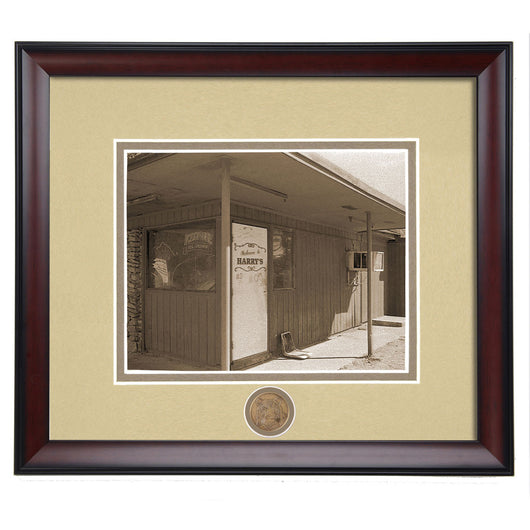 Auburn, AL Popular Hangout for Auburn Students - Harry's Bar Vintage Framed Photo -