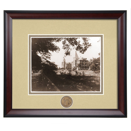 Auburn College Street Lawn View of Samford and Hargis Hall 1920's Framed Vintage Photo