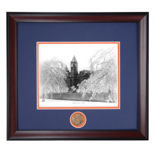 Auburn Samford in the Snow 1899 Framed Photo