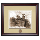 Auburn University Samford Hall 1920's Framed Vintage Photo in Sepia