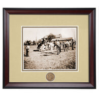 Auburn University Old Vet School Early 1900's Framed Vintage Photo in Sepia