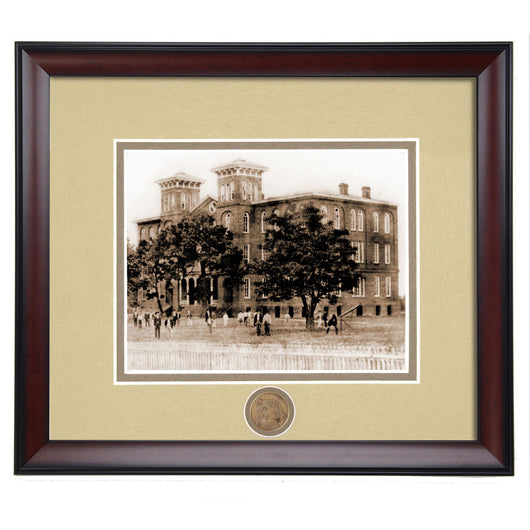 Auburn Old Main Building 1880's Framed Vintage Photo