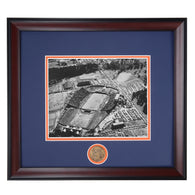 Auburn Tigers Cliff Hare Stadium 1950's Framed Photo