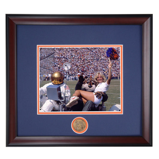 Auburn Tigers Aubie Lunar Landing at Jordan Hare Stadium Framed Football Photo