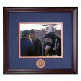 Auburn Tigers Coach Pat Dye on Field Framed Football Photo