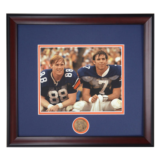 Auburn Football Legends Pat Sullivan and Terry Beasley in Color
