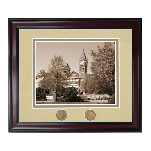 Auburn Landmark Samford Hall Tower Sepia Photo