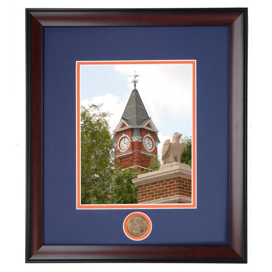 Auburn Samford Hall with Eagle Statue Framed Photo