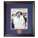 Auburn Coaching Legend Ralph Shug Jordan Black and White Photo
