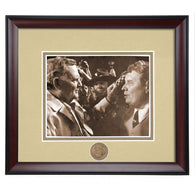 Auburn Football Coaching Legend Shug Jordan Speaks with Paul Bear Bryant after Iron Bowl Framed Photo