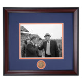Coaching Legends Shug Jordan and Bear Bryant Framed Photo- Conversation before the Iron Bowl