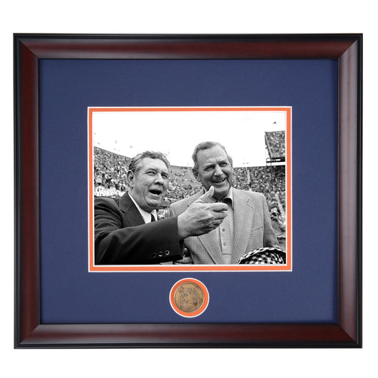Coaching Legends Shug Jordan and Bear Bryant Framed Photo- Conversation the Iron Bowl