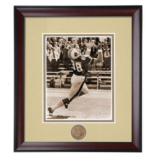 Auburn Tigers Terry Beasley #88 Wide Receiver Framed Football Vintage Photo