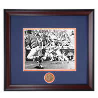 Auburn Tiger Football Legend William Andrews running for big yardage - Framed Photo