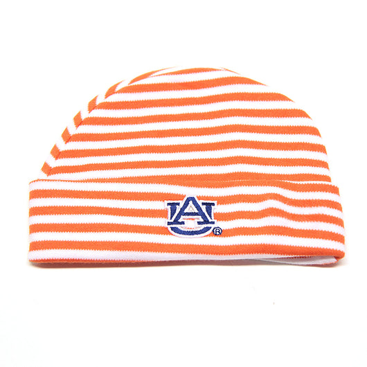 Auburn University Orange Striped Baby Cap