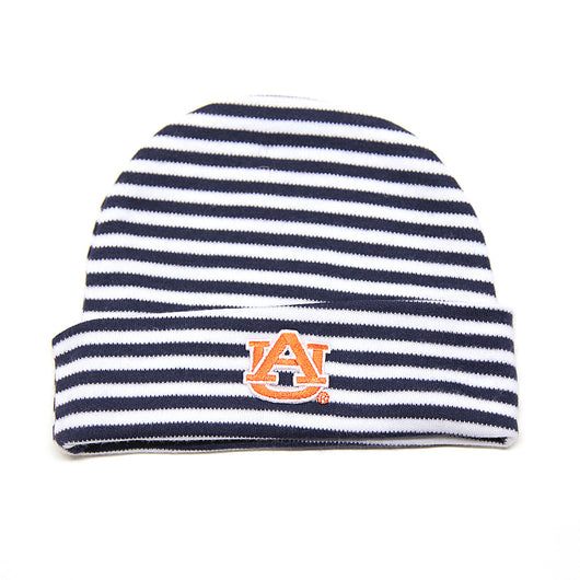 Auburn University Navy Striped Baby Cap