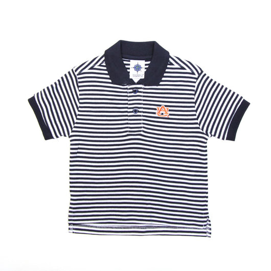 Navy Striped AU Polo
