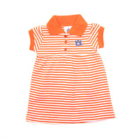 Orange AU Striped Dress with Bloomers