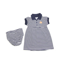 Navy AU Striped Dress with Bloomers