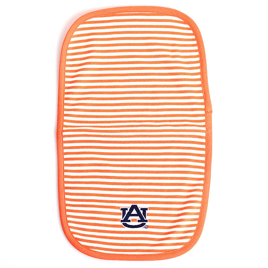 Auburn Baby Burp Cloth in Orange Stripe