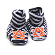 Auburn University Newborn Booties, Navy