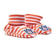 Auburn University Newborn Booties, Orange