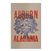 Auburn, Alabama Letterpress Poster - A-Day 2013 Poster Series