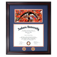 Auburn Diploma Frame with Flying Eagle Photo- Quick & Easy Installation!