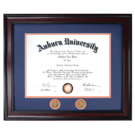 Auburn Diploma Frame in Walnut or Mahogany - Quick and Easy Installation - AuburnArt.com Exclusive