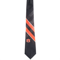 Auburn Navy, Orange and White Grid Tie