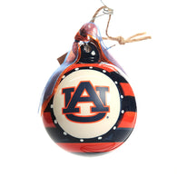 Auburn Striped Ceramic Ornament