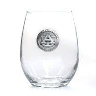 Stemless Wine Glass with Pewter AU Logo