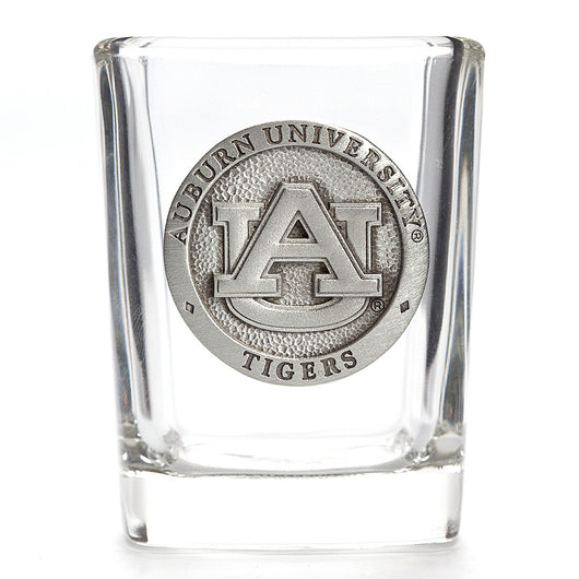 Auburn Square Shot Glass with Pewter Logo
