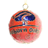 Auburn Oaks Orange Cloisonné Ornament