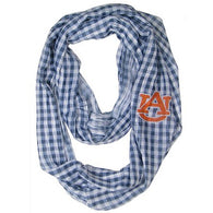 Auburn Gingham Scarf with Orange AU Logo