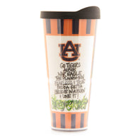 Striped Auburn Tumbler with Lid