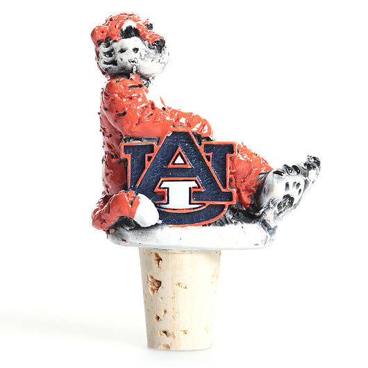 Aubie Sitting with AU Bottle Stopper