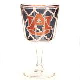Auburn Navy Links Insulated Wine Glass