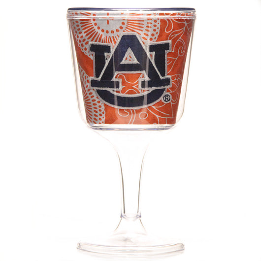 Auburn Orange Swirl Insulated Wine Glass