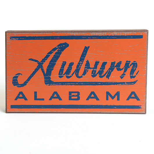 Auburn, Alabama Wood Sign